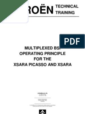 Citroen Xsara BSI Manual   Switch   Automatic Transmission on