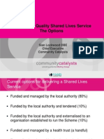 Delivering Shared Lives the Options
