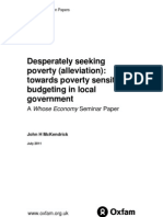 Desperately Seeking Poverty (Alleviation)