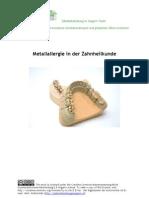 Metallallergie in der Zahnheilkunde