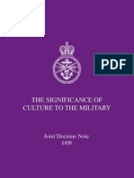 Significance of Culture to the Military 59 Pages