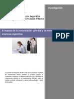 Aadeci Investigacion El Impacto de La Comunicacin Informal y Los Rumores en Las Empresas Argent in As 111015051530 Phpapp01