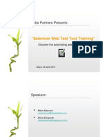 Selenium Web Test Tool - Training