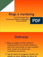Apresentação sobre blogs e marketing
