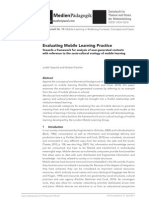 Evaluating Mobile Learning Practice