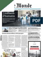 7 milliards d'humains et une famille mozambicaine (21 octobre 2011, Le Monde)