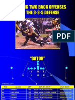 3-3-5 Defense VsWing-T by Dave Brown