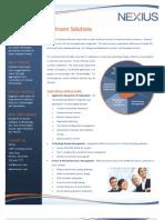 Nexius Software Services Datasheet
