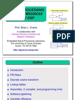 03_C6xDSP | Instruction Set | Digital Signal Processor