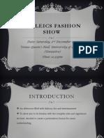 BruLeics Fashion Show Rules