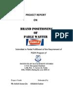 Parle Summer Internship Project Report