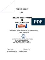 Parle Summer Internship Project Report