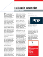 Achieving Excellence in Construction