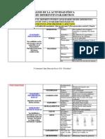 Analisis de la actividad física y el deporte desde diferentes parametros