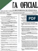 GACETA OFICIAL 38750  condiciones MINIMAS DE VIVIENDAS BASICAS