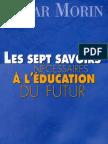 E. Morin - Les sept savoirs nécessaires à l'éducation du futur