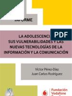 La adolescencia, sus vulnerabilidades y las nuevas tecnologías de la información y la comunicación