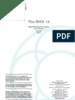 Ams Rmx 16 - User Manual