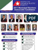 2011 Mecklenburg County Democratic Voter Guide