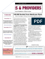 Payers & Providers California Edition – Issue of October 20, 2011