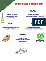 Jadual Bertugas Bilik Sains 2009