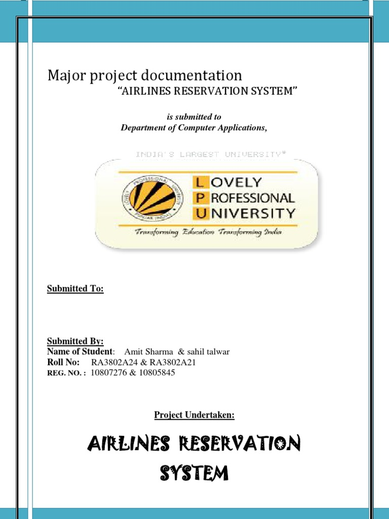 Reservation System Thesis Scribd