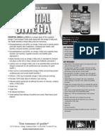 ESSENTIAL OMEGA 16oz PRODUCT DATA SHEET - PEACH MANGO SMOOTHIE, LEMON TWIST & PINA COLADA