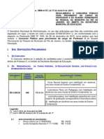 Edital Regulam Professor II 2011