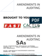 Amendments in Auditing