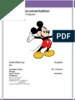 Project Documentation of Mickey Mouse Program