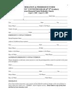 Tweens (6th - 8th grades) Youth Program Health Form