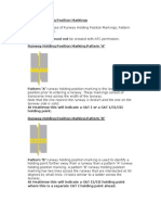 Runway Holding Position Marking Patterns