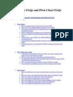 Pivot Table FAQs and Pivot Chart FAQs