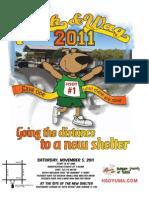 Walk 'n Wag 2011 8.5 x 11 in. flyer
