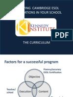 Achieving Cambridge Esol for Your School