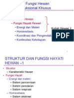 Kuliah 11 Struktur & Fungsi Hayati Hewan1