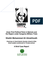 Brief Report (Amal, First Political Party in Bahrain and the Region under Kangaroo Military Trials)