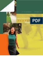 Sacramento Pedestrian Master Plan