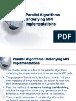 13-ParallelAlgorithmsUnderlyingMPIImplementations