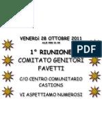 Avviso Riunione - Comitato Genitori Favetti