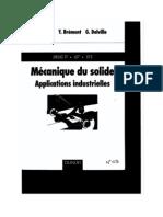 Livre Mecanique Du Solide Applications Industrielles Edit Dunod