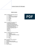 Information System for Managers