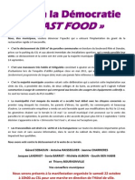 Tract Non à la démocratie fast food