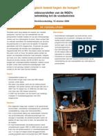 Het Belgisch beleid tegen de honger? Beleidsvoorstellen van de NGO's  met betrekking tot de voedselcrisis