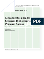 Servicios Bibliotecarios Personas Sordas