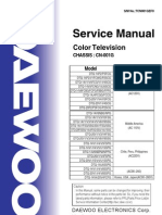 Daewoo CRT TV Service Manual