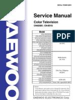 Daewoo CRT TV Service Manual