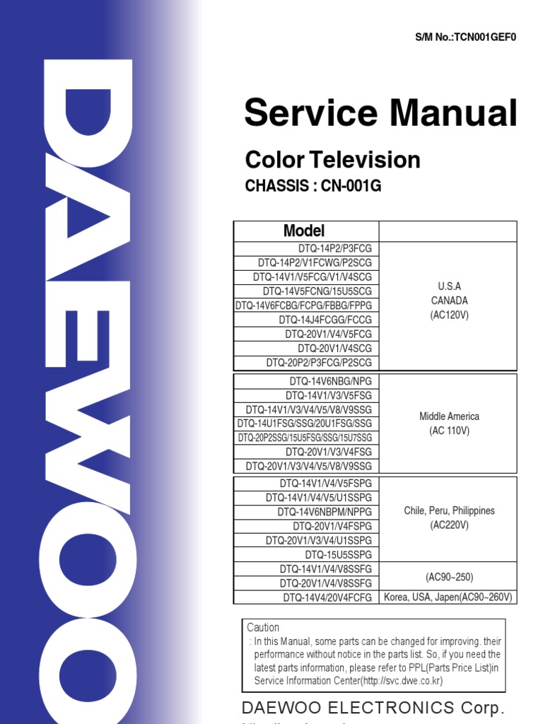 daewoo crt tv service manual rh es scribd com Makers Service Repair Manual Appliance Repair Service Manuals