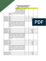 Catalogo de Pluviales Hospital Panama