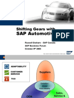 The SAP Value Proposition for Automotive Enterprises[1]